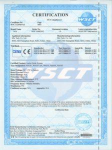 Certyfikat CE-EMC