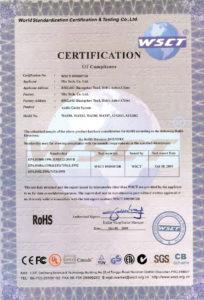 Certyfikat RoHS